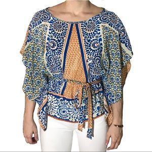 GLAM | Patterned Silk Tunic